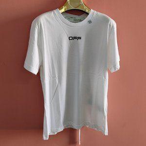 Off-White Logo Print White Short Sleeve T-Shirt